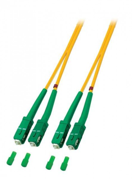 LWL-2-Faser-Patchkabel 5mtr.SC(APC8GradO2561.5,-SC/APC8Grad
