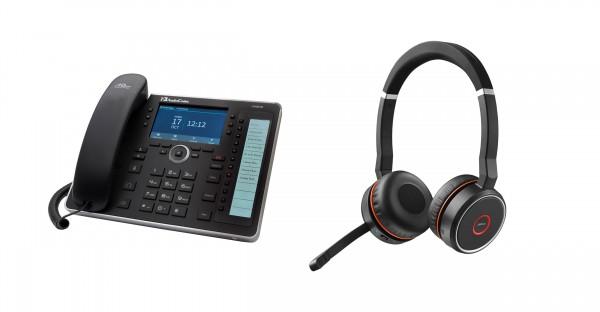 Audiocodes - Jabra Bundle, UC445HDEG & Evolve 75 Headset Duo USB / Bluetooth MS