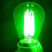 Synergy 21 LED Retrofit E27 S14 grün mit 2 Watt für Lichterkette