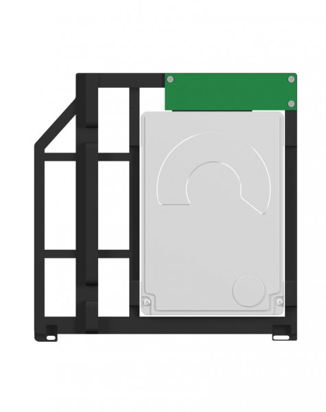 ICY Box Adapter, 2, 5'', intern für SSD/Festplatten für Mac, IB-AC645, Schwarz