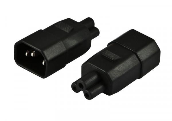 102442 - Netzkabel 220V Adapter (C14) Stecker -> IEC 320-C5 ...