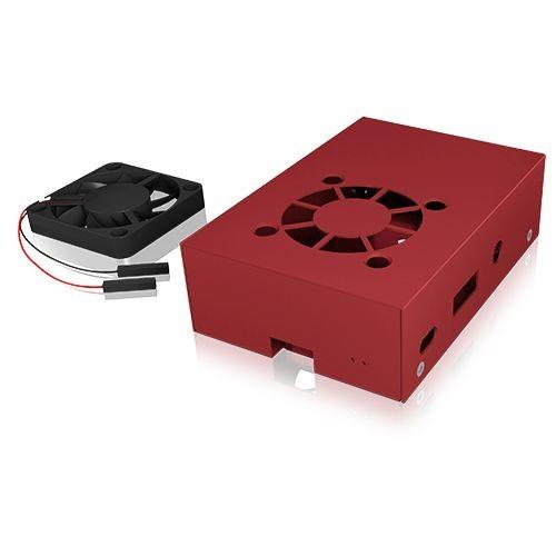 ICY Box Schutzgehäuse für Raspberry Pi® 2 und 3, rot, IB-RP105-R,
