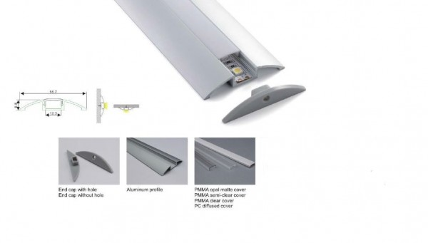 Synergy 21 LED U-Profil 200cm, ALU021