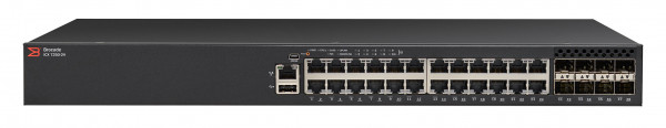 Brocade ICX 7250 Switch 24-port 1 GbE switch with 8x1GbE SFP+ (upgradeable to 10GbE)