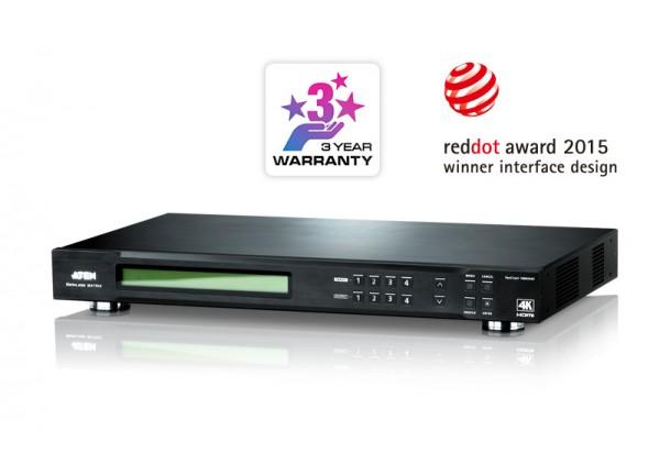 Aten Video Switch, HDMI, 4xInput, 4xOutput, True 4K, mit Scaler,