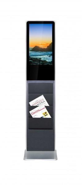 Allnet Standdisplay 21 Zoll 10Point-Touch mit Prospekthalter, Android, Farbe Schwarz