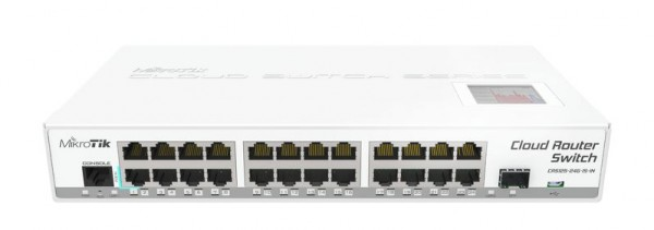 MikroTik Cloud Router Switch CRS125-24G-1S-IN, 24x Gigabit, 1x SFP