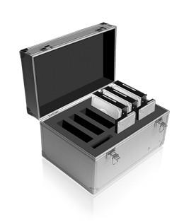 """ICY Box Aluminium-Schutzkoffer, für 2, 5""""/3, 5""""-Festplatten,"""