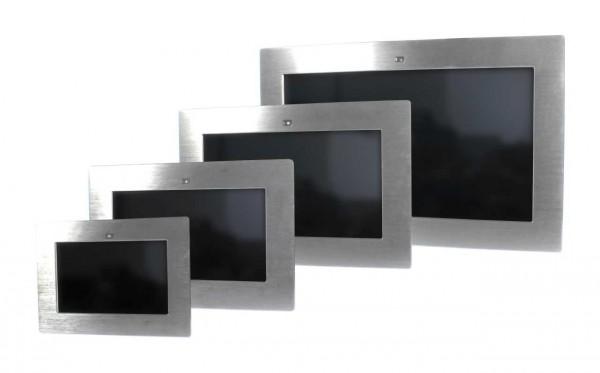 ALLNET Touch Display Tablet 15,6 Zoll zbh. Einbauset Einbaurahmen + Blende Silber