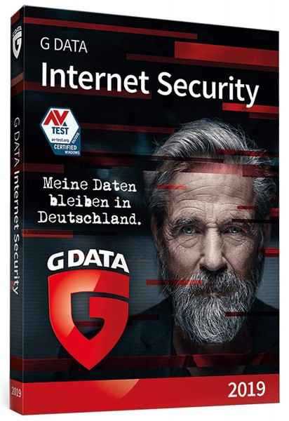G DATA INTERNET SECURITY 2019 3 Geräte 12 Monate Box