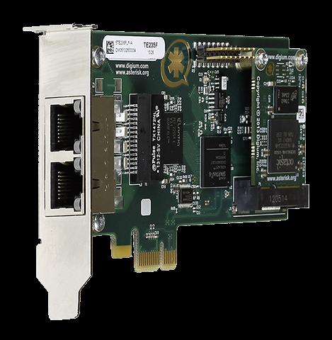 Digium PCIe Wildcard TE235 (Dual-Span) 2xPRI