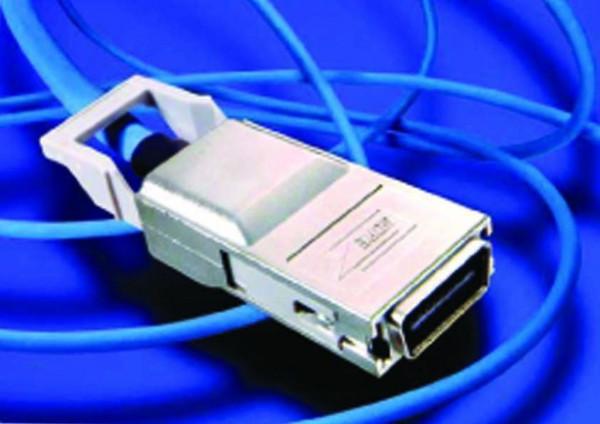 Patchkabel CX4, 10GBase, IB4X-Stecker, 5m