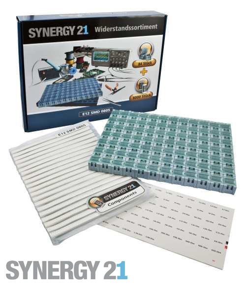 Synergy 21 Widerstandssortiment E12 SMD 0805 1% SET