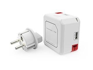 Allocacoc PowerUSB Portable EU, 4xUSB, 5V, total 2.1A, Akku 5000mAh,