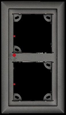 Mobotix 2er Rahmen, dunkelgrau STD
