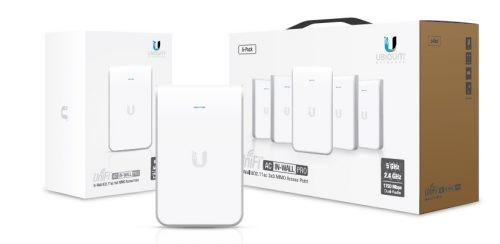 Ubiquiti Unifi Access Point InWall Pro / Indoor / 2,4 & 5 GHz / AC Wave 2 / UAP-AC-IW-PRO-5 / 5er Pack