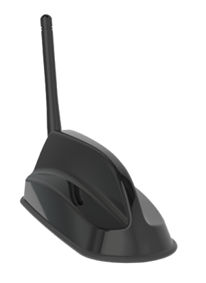 Sierra Wireless 6in1 SharkFin Antenna - 2xLTE, GNSS, 3xWiFi, 2.4/5GHz, Bolt Mount, 4m, Black