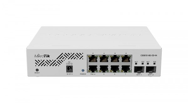 MikroTik Cloud Smart Switch CSS610-8G-2S+IN, 8x Gigabit, 2x SFP+