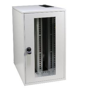 """Wandgehäuse 19"""", Vertikal, 5HE, 1-teilig, T500mm, Lichtgrau,"""