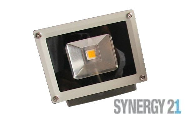 Synergy 21 LED Spot Outdoor Baustrahler 10W graues Gehäuse - rot V2