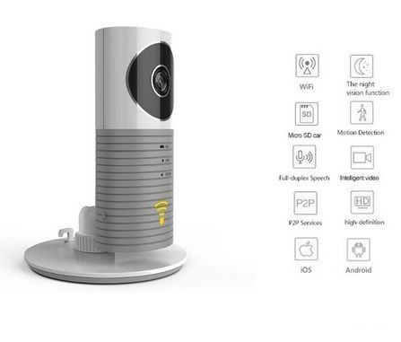 Cleverdog Consumer Smart-Camera P2P/WiFi - Grey -