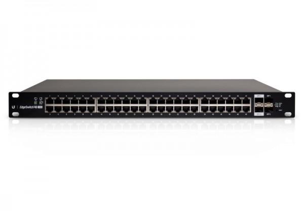 Ubiquiti EdgeSwitch 48, 750W, 48 Gigabit RJ45 Ports, 2 SFP+ Ports, 2 SFP Ports, PoE+, ES-48-750W