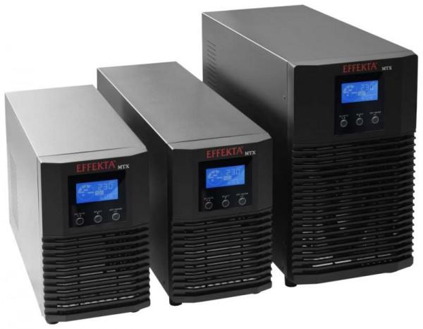 Effekta MTX Lineinteraktive USV, 3000VA, 6min, MTX3000, USB+RS232, Schwarz, Sinus-Ausgang,