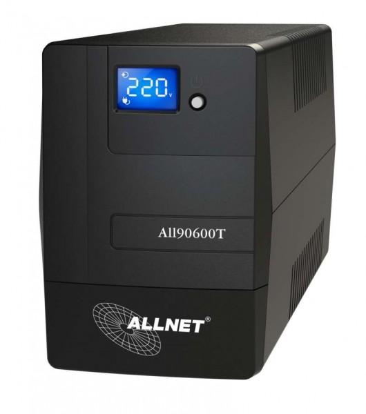 ALLNET USV 600VA Line-Interactive, USB, LCD-Display