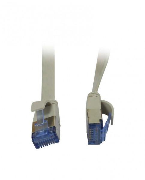 Patchkabel RJ45, CAT6A 500Mhz, 1.0m, grau, U/FTP, flach, AWG32, Synergy 21