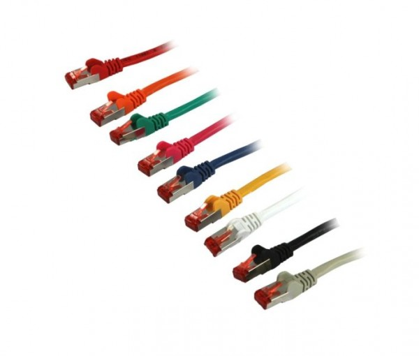 Patchkabel RJ45, CAT6 250Mhz, 1.0m orange, S-STP(S/FTP), Syn