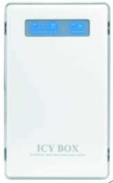 "ICY Box Gehäuse, ext.IDE 2, 5""/USB 2.0, weiß,IB-220U-WH,"