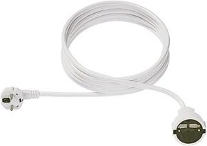 Bachmann Kabel, Verlängerung, Dose(CEE7)->Stecker(CEE7), 5m, weiss,