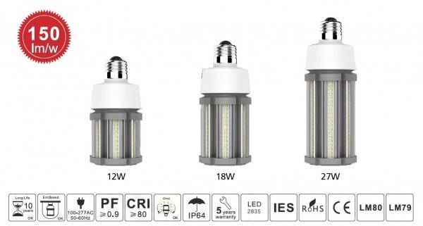 Synergy 21 LED HID Corn Retrofit E27 360° 27W nw