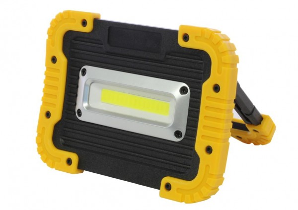 Synergy 21 LED AKKU Baustrahler 10W gelb/kaltweiß flat