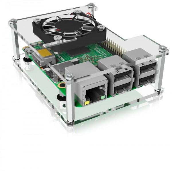ICY Box Schutzgehäuse für Raspberry Pi® 2/3/4, Acryl/Transparent, IB-RP106,
