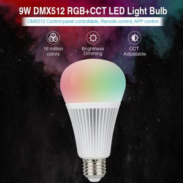 Synergy 21 LED Retrofit E27 9W RGB-WW Lampe DMX *MiLight*