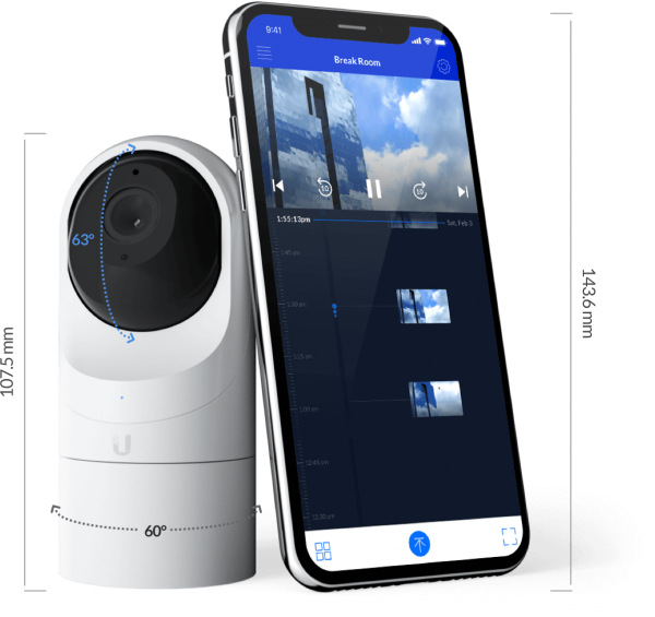 Ubiquiti UniFi Video Camera G3-Flex / Outdoor / Full HD / PoE / Flexible Installation / UVC-G3-FLEX / 3er Pack