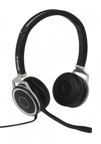 Plusonic Business Headset, 15.2P, binaural, USB & 3,5mm Klinke