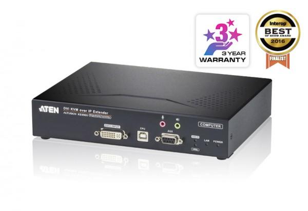 Aten KVM-Extender, over IP, nur Sender, DVI, ( Transmitter only)