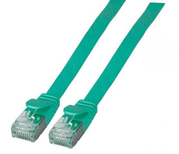 Patchkabel RJ45, CAT6A 500Mhz, 2m, grün, U/FTP, flach,