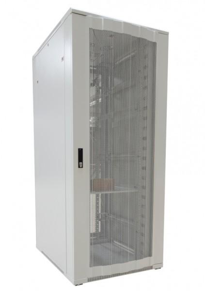 """ALLNET 19""""Schrank, 22HE, B800/T1000mm, perforierte Blechtüren, Lichtgrau, SNB-Serie,"""
