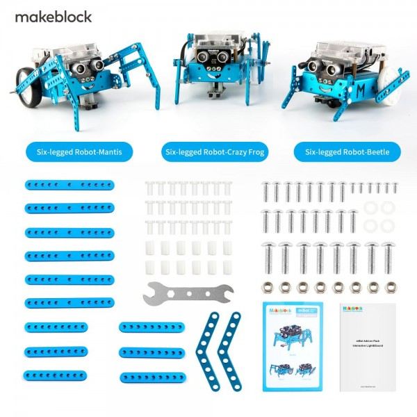 "Makeblock MINT Roboter Erweiterung 3-in-1 ""Six-legged Robot"" (Add-on Paket)"