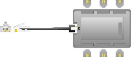 Kabel TK ISDN Verteiler 6fach