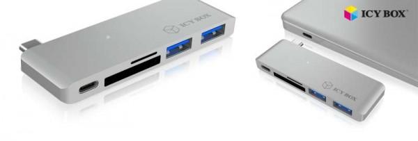 ICY Box Adapter, USB TypC auf USB 3.0/USB TypC/SD+micro SD, IB-DK4035-C
