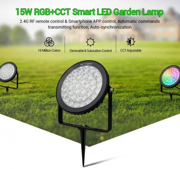 Synergy 21 LED Garten Lampe 15W RGB-WW mit Funk und WLAN IP65 230V *Milight/Miboxer*