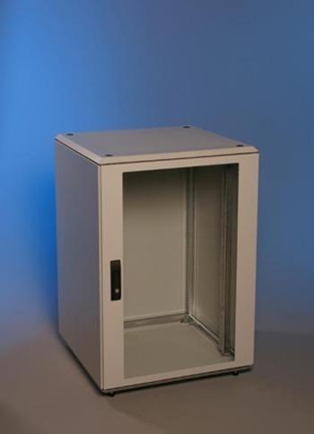 Knürr Schrank Smaract 12HE, B600/T800, T-Nut, Lichtgrau, IP54,