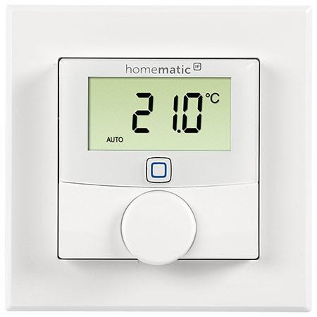 Homematic IP Funk Wandthermostat mit Schaltausgang HmIP-BWTH24 – für Markenschalter, 24 V