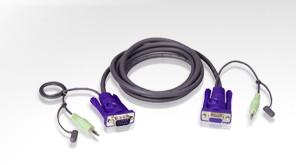 Aten Verbindungskabel HDB15(St/Bu), Audio(St/St), 1,8m