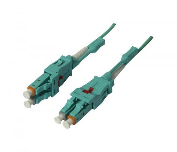 LWL-2-Faser-Patchk. 15mtr.LC-LC, 50/125um, OM3, Uniboot(drehbar), Push/Pull, AD=2mm, Synergy 21