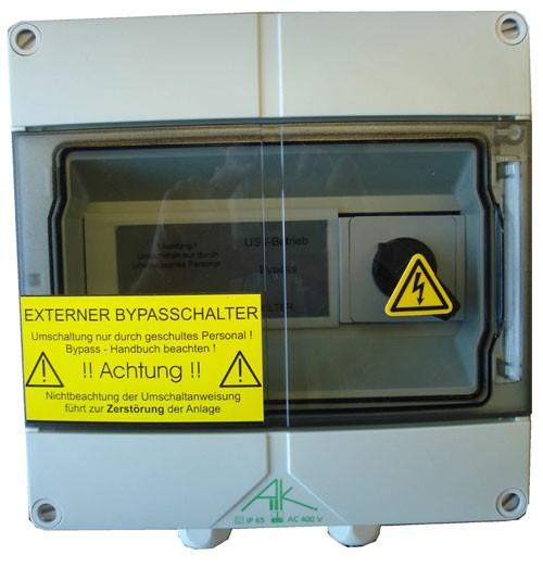 Effekta zbh.Bypass Extern, 800-1500VA, 10A, 1phasig, für MTX-Serie, Wandmontage,